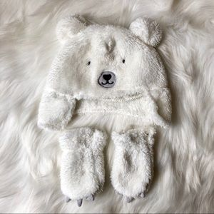 Fuzzy Bear Hat and Paws